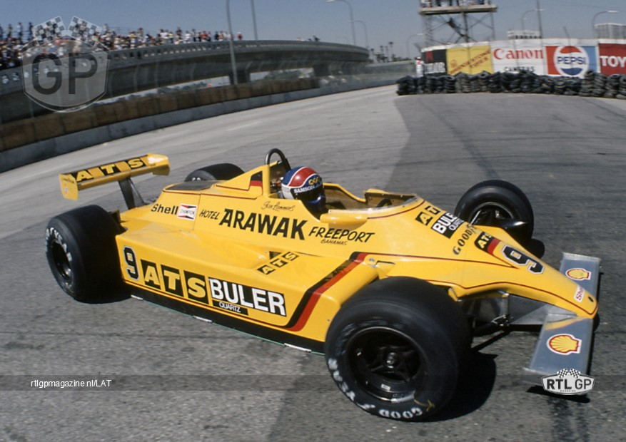 Jan Lammers Formule 1 1980 Long Beach